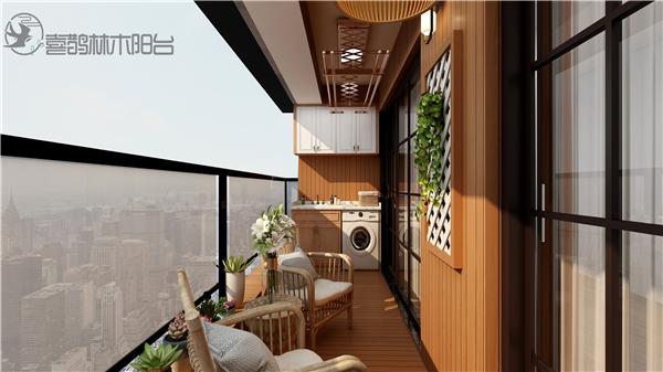 喜鹊林木阳台定制装修效果图图片