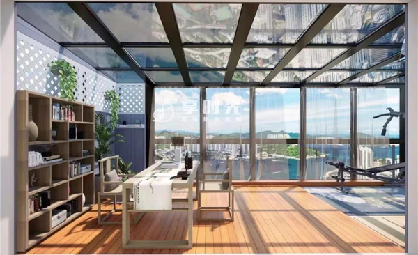 享时光花园木阳台定制装修效果图图片