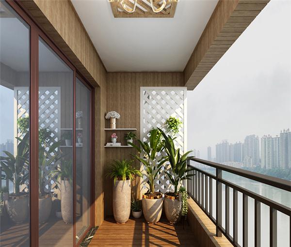 靓宅木阳台定制装修效果图图片